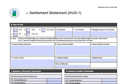 New HUD-1 form released | Law News
